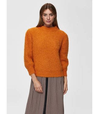 Selected Femme 16068696 SLFPIPPA 3/4 KNIT O-NECK B