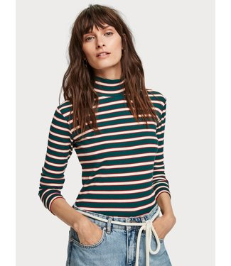 Maison Scotch 153018 Striped turtle neck