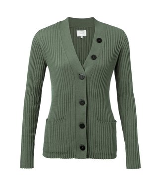 Yaya 101047-923 Cardigan with contrast buttons