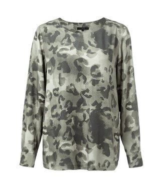 Yaya 1901184-923 Top with leopard print