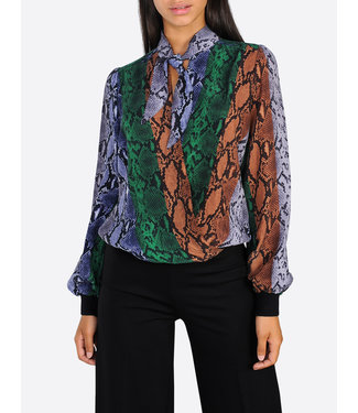 Summum Woman 2s2319-10978 Bow tie top snake cupro