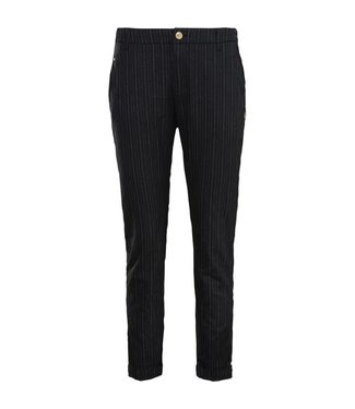 Summum 4s1817-11021 Trousers irregular viscose pinstripe