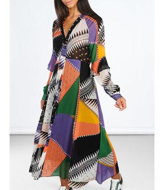 Summum 5s1078-10983 Dress patchwork print