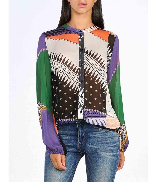 Summum Woman 2s2298-10983 Blouse patchwork print