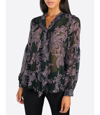 Summum Woman 2s2310-10980 Bow tie top flower print