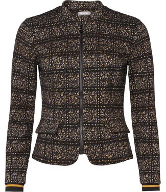 Geisha 95602-20 Jacket jacquard zipper closure