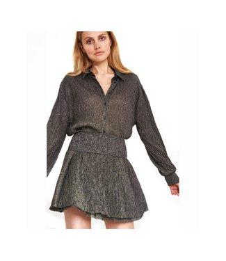 Alix 197988355 ladies knitted lurex mesh blouse