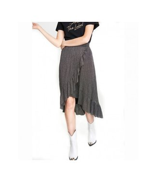 Alix the Label 197288390 ladies knitted lurex mesh long skirt
