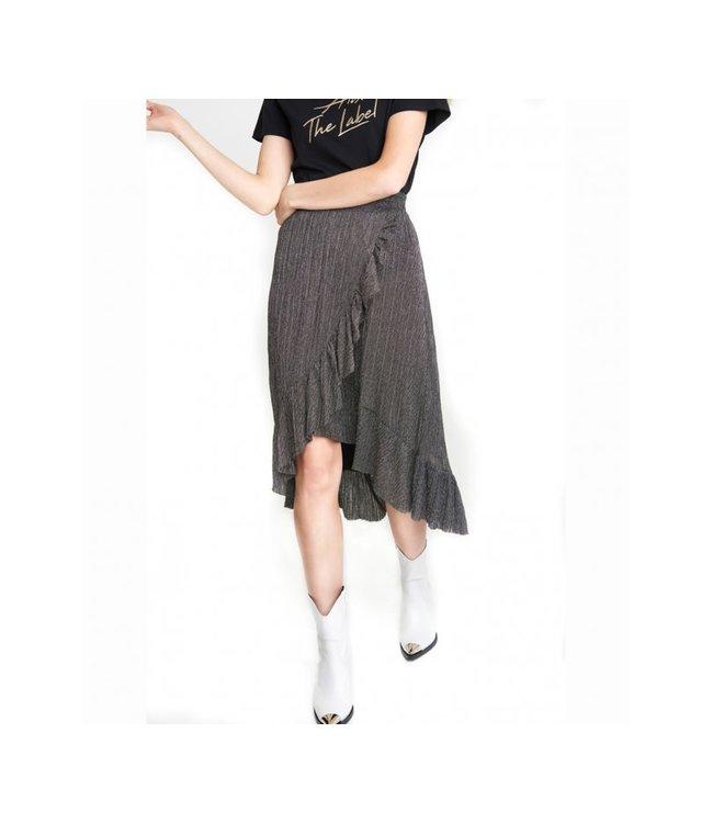 Alix 197288390 ladies knitted lurex mesh long skirt