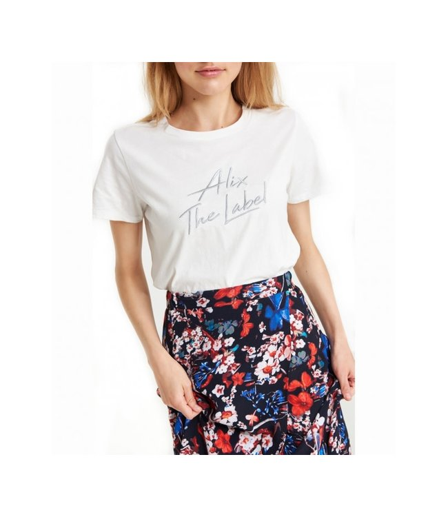 Alix the Label 197891372 ladies knitted embroidered t-shirt.