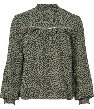 Geisha 93823-21 Top leopard with elastic collar