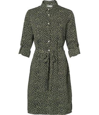 Geisha 97853-21 Dress with buttons AOP leopard
