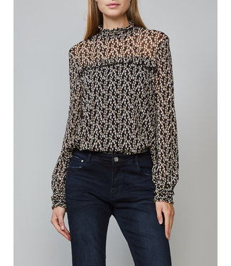 Summum Woman 3s4340-30108 Long sleeve star print on mesh