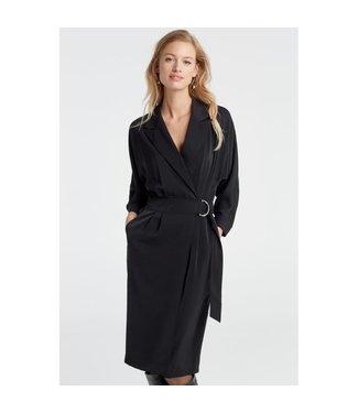 Yaya 1801163-925 Wrapped dress with belt