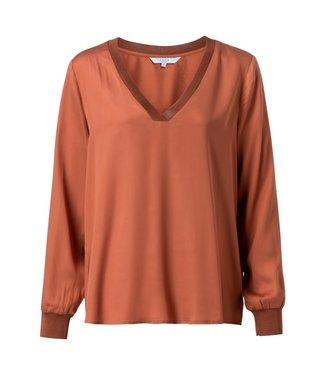 Yaya 1901206-925 Lyocell V-neck blouse