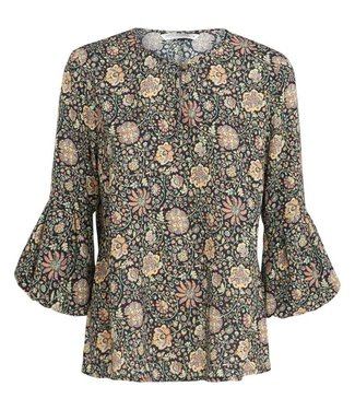 Summum Woman 2s2109-10653 Top long sleeve all over print 120-multicolour