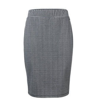 Dayz Pearl Check skirt with leather Tape