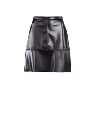 Juffrouw Jansen ELLIS W18/la623 short lak skirt black 999