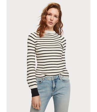 Amsterdams Blauw 153827 Special striped knit with shaped sleeves