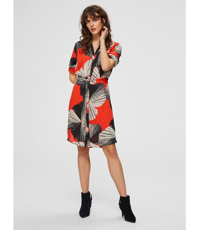 Selected Femme 16064857 SLFDAMINA 7/8 AOP DRESS B