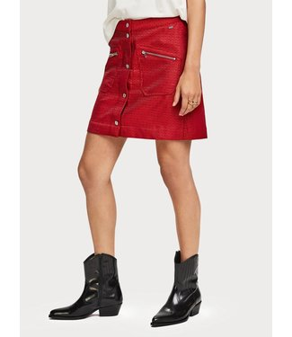 Amsterdams Blauw 153752 Workwear skirt in special jacquard quality