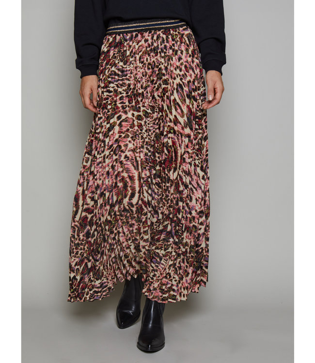 Summum Woman 6s1158-11286 Printed plisse skirt