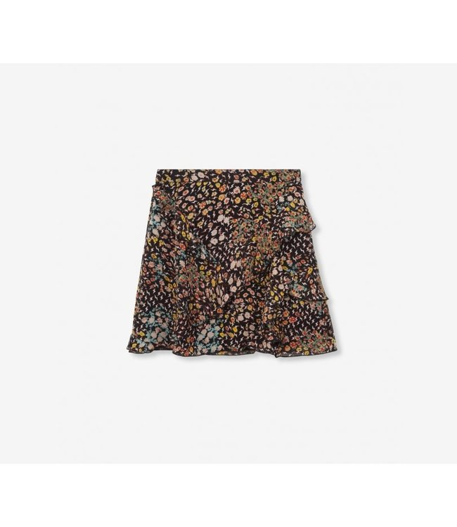 Alix the Label 198208408 ladies woven ditsy lightning chiffon short skirt