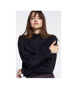 Alix the Label 198905402 ladies woven broderie blouse.