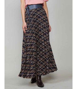 Summum Woman 6s1124-11087 Plisse skirt check