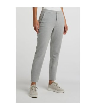 Yaya 121146-011 Slim trousers with small splits on sides