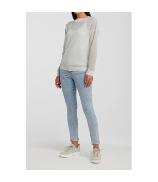 Yaya 1000235-011 Ribbed lurex sweater