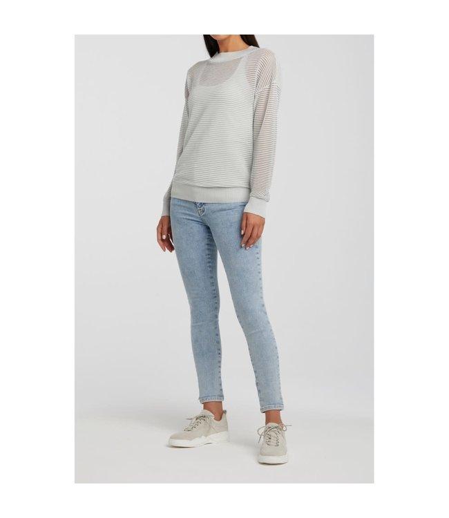Yaya 1000235-011 Ribbed lurex sweater