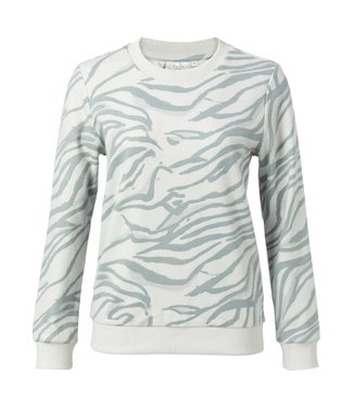Yaya 1009280-011 Cotton blend sweatshirt with animal print