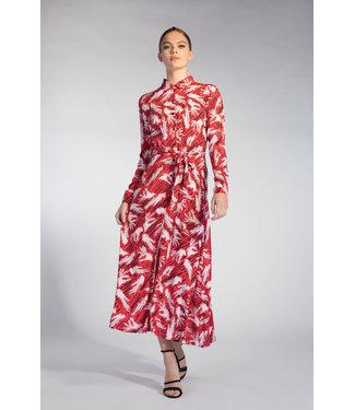 Juffrouw Jansen POPPY S20 wh715 long blouse belt