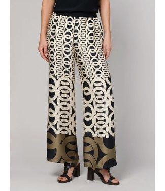 Summum Woman 4s1940-11106 Trousers border print