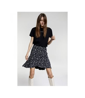 Alix the Label 198202392 ladies woven sketchy lightning skirt