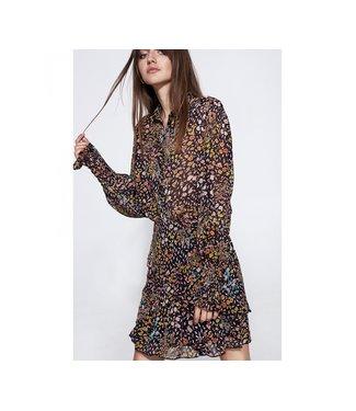 Alix the Label 198908411 ladies woven ditsy lightning chiffon blouse
