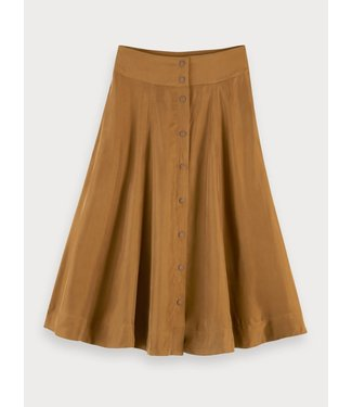 Maison Scotch 155997 Midi length skirt in cupro quality