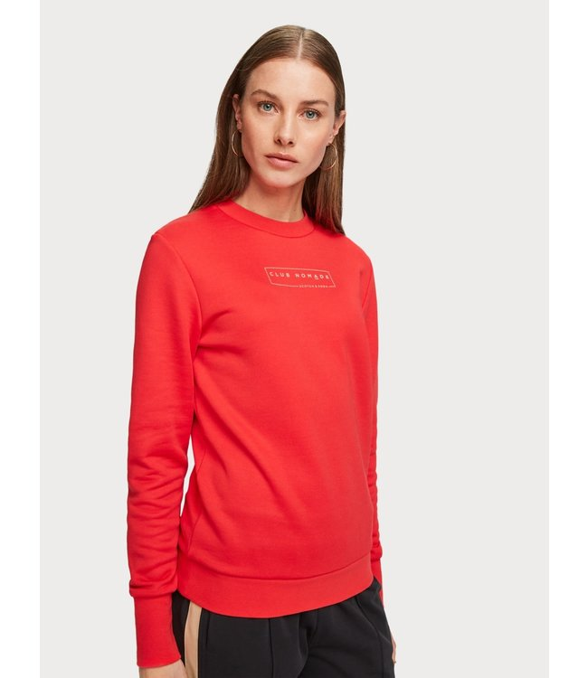 Amsterdams Blauw 153788 Club Nomade crew neck sweat with chest print.