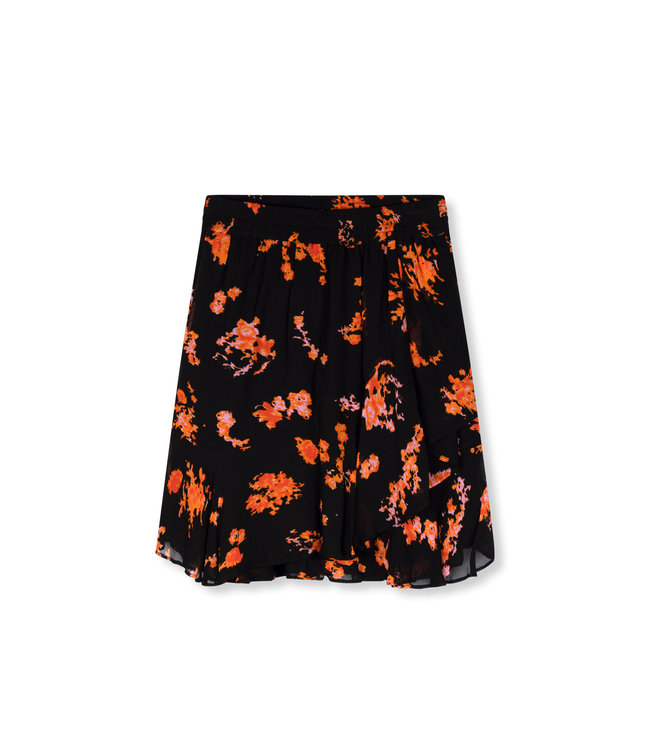 Alix the Label 201240444 ladies woven short flowers chiffon skirt
