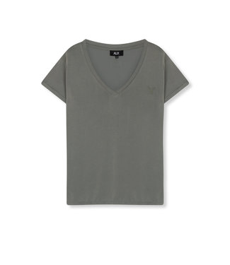 Alix the Label 201883491 ladies knitted v-neck t-shirt.