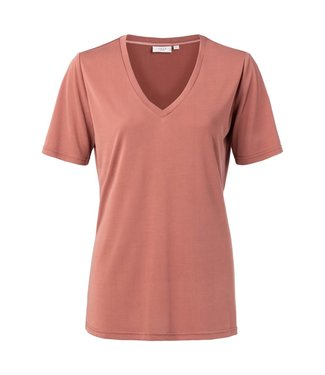 Yaya 1919121-012 Modal V-neck T-shirt