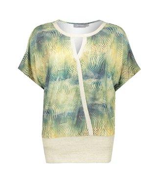 Geisha 03055-60 Top lurex rib jersey s/s