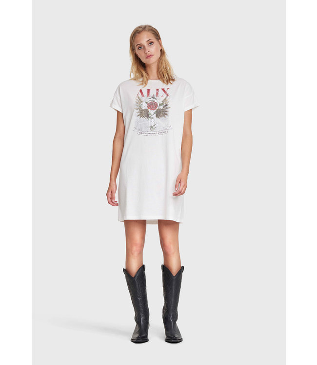 Alix the Label 201836461 ladies knitted cross long t-shirt