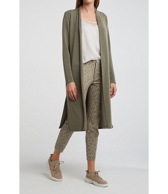 Yaya 101900-012 Long cardigan with scarf collar