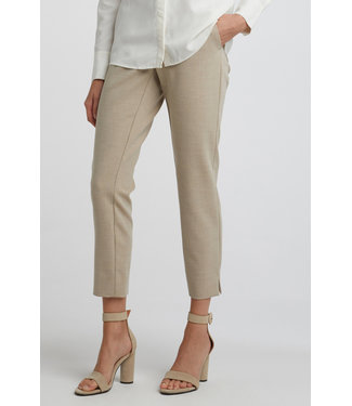 Yaya 121146-012 Slim trousers with small splits on sides