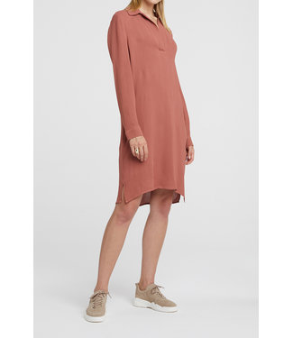 Yaya 1801203-012 Belted midi dress with side pockets
