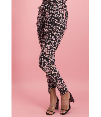 Jane Lushka UPF220SS19 Vera Bow Pants Black and Bloom
