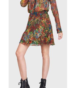 Alix the Label 201251493 ladies woven short flower lurex skirt