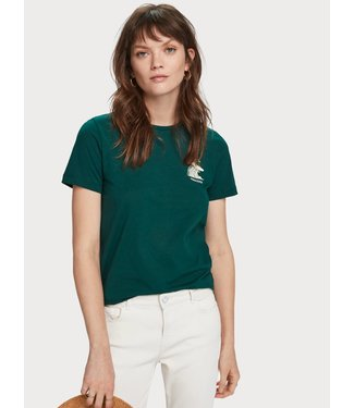 Maison Scotch 156185 Regular fit tee with artwork.